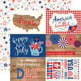 America: 4X6 Journaling Cards 12x12 Patterned Paper