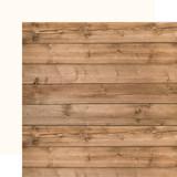 America: Woodgrain/Cream 12x12 Solid Paper