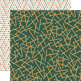 School Days: Scattered Pencils 12x12 Patterned Paper