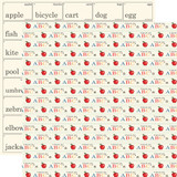 School Days: Apples and ABCs 12x12 Patterned Paper