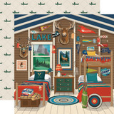 Summer Camp: Camp Cabin 12x12 Patterned Paper