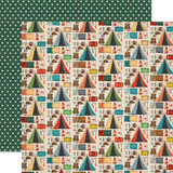 Summer Camp: Camping Essentials 12x12 Patterned Paper