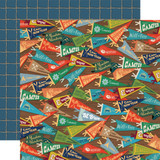 Summer Camp: Camp Pennants 12x12 Patterned Paper