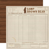 Summer Camp: Camp Ledger 12x12 Patterned Paper