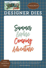 Summer Camp: Camping Adventure Word Die Set