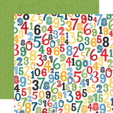 School Rules: Numbers 12x12 Patterned Paper