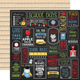 School Rules: School is Cool 12x12 Patterned Paper