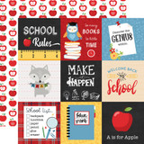 School Rules: 4x4 Journaling Cards 12x12 Patterned Paper