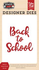 School Rules: Back to School  Word Die Set