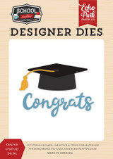 School Rules: Congrats Grad Cap Die Set