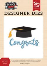 School Rules: Congrats Grad Cap Die Set