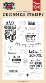 School Rules: Study Hard Stamp Set