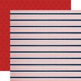 By The Sea: Sailor Stripe 12x12 Patterned Paper