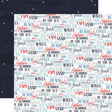 By The Sea: Coastal Words 12x12 Patterned Paper