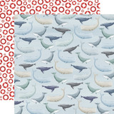 By The Sea: Whales 12x12 Patterned Paper