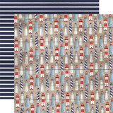 By The Sea: Lighthouses 12x12 Patterned Paper