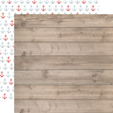 By The Sea: Beach Woodgrain 12x12 Patterned Paper
