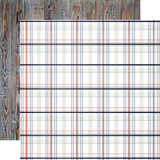 By The Sea: Nautical Plaid 12x12 Patterned Paper