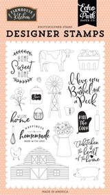 Farmhouse Kitchen: Heart of the Home Stamp Set