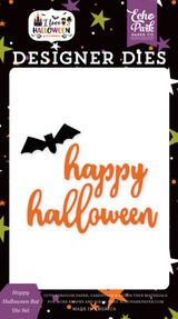 I Love Halloween: Happy Halloween Bat Die Set