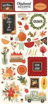 Hello Autumn: Hello Autumn 6x13 Chipboard Accents