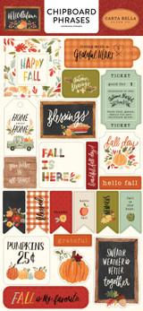 Hello Autumn: Hello Autumn 6x13 Chipboard Phrases