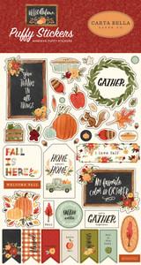 Hello Autumn: Hello Autumn Puffy Stickers