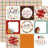 Happy Fall: 4x4 Journaling Cards