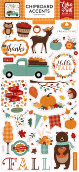 Happy Fall: Happy Fall 6x13 Chipboard Accents