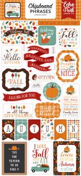 Happy Fall: Happy Fall 6x13 Chipboard Phrases