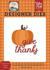 Happy Fall: Pumpkin Give Thanks Die Set