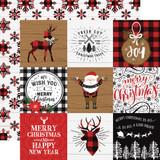 A Lumberjack Christmas: 4x4 Journaling Cards