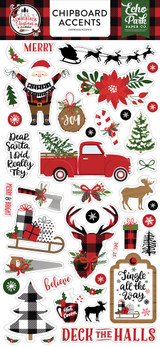 A Lumberjack Christmas: 6x13 Chipboard Accents