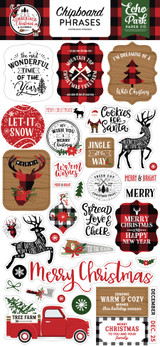 A Lumberjack Christmas: 6x13 Chipboard Phrases