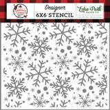 A Lumberjack Christmas: Jingle Bell Snowflakes 6x6 Stencil