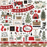 Farmhouse Christmas: Farmhouse Christmas Element Sticker