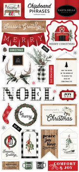 Farmhouse Christmas: 6x13 Chipboard Phrases