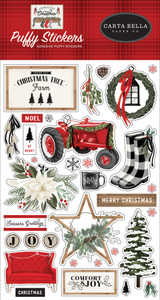 Farmhouse Christmas: Puffy Stickers