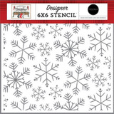 Farmhouse Christmas: Merry Snowflakes 6x6 Stencil