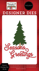 Farmhouse Christmas: Season's Greetings Tree Die Set