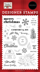 Farmhouse Christmas: Peace Love Joy Stamp Set