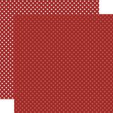 Christmas Dots & Stripes: Burgundy Dots