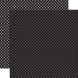 Christmas Dots & Stripes: Black Dots