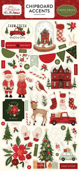 Hello Christmas: 6x13 Chipboard Accents