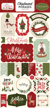 Hello Christmas: 6x13 Chipboard Phrases