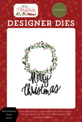 Hello Christmas: Merry Christmas Wreath Die Set