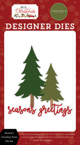 Hello Christmas: Season's Greetings Tree Die Set