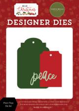 Hello Christmas: Peace Tags Die Set