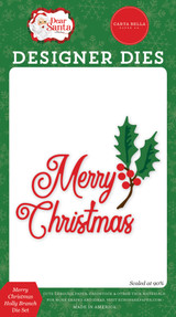 Dear Santa: Merry Christmas Holly Branch Die Set