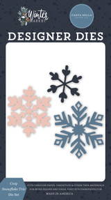 Winter Market: Cozy Snowflake Trio Die Set